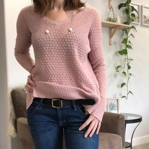 AMERICAN EAGLE Sweater Pink Wool Blend Size XSmall